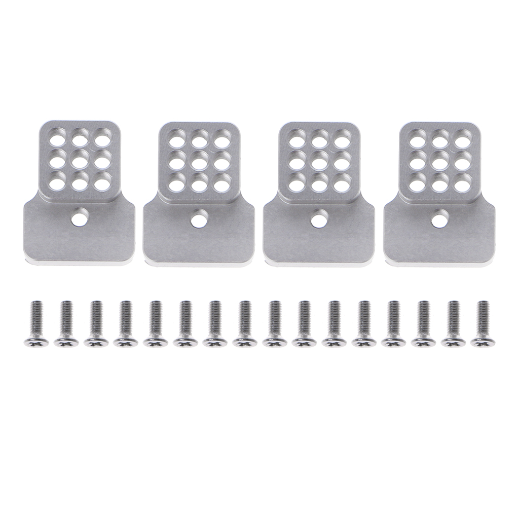 New Premium Metal Silver Extension Seat With Screws For RC CAR WPL Truck C14 C24 DIY Upgrade Parts