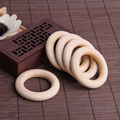 5pcs 55mm Baby Natural Teething Rings Wooden Necklace Bracelet DIY Crafts