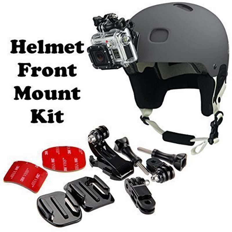 Curved Adhesive Helmet Front Mount Kit For Xiaomi Yi 2 4K For GoPro Hero3 3+ 4 4 Session & SJCAM SJ4000 Cam