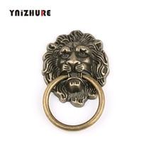 67*43 мм мебельные ручки зверь для головы льва античные легированные ручки ящика шкафа двери тянуть ретро украшения 1 шт. с винтом