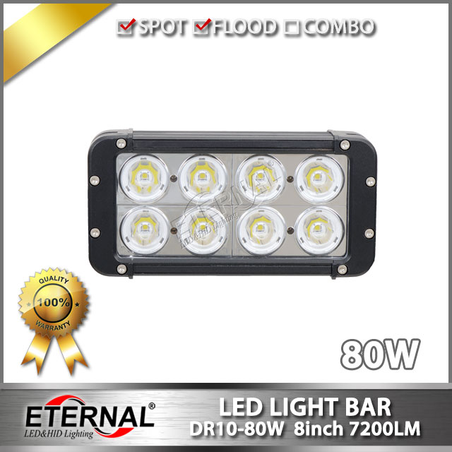 цены free shipping 6pcs 80W led light bar spot flood combo car led driving headlight automotive motorcycle led headlight SUV bumper