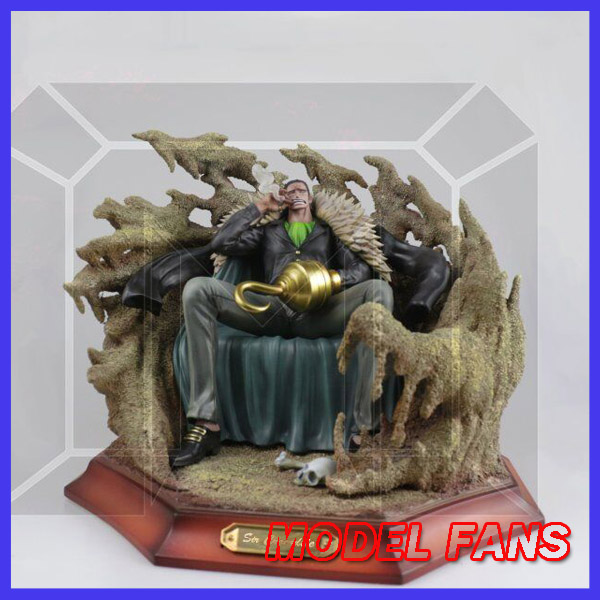 MODEL FANS IN-STOCK One Piece 28cm Sir Crocodile Sitting position gk resin toy Figure for Collection model fans in stock one piece 23cm sd boa hancock sitting position gk resin toy figure for collection