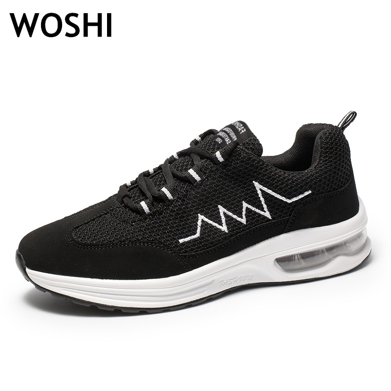 2018 Simple Men Running Shoes Summer Breathable Mesh Boy Sneakers Male Outdoor Sport Light Trainers men solomons Man tennis K4