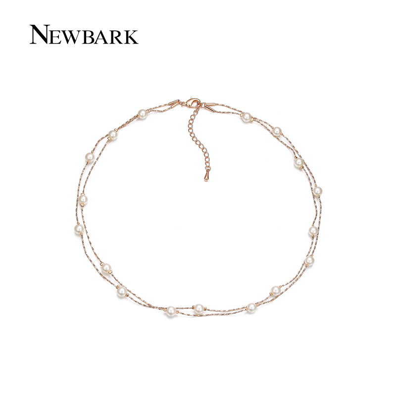 font b NEWBARK b font 17pcs Chain font b Necklaces b font Pendants Imitated Pearl