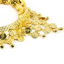 Charm Headband Gold Metal Bohemian Fashion Hairband Coin Tassel Headpiece Belly Dance Head Band Hair Jewelry Indian Jewelry