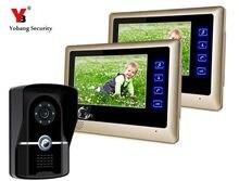 Yobang Security 7″Video Doorbell Rainproof Door Camera Intercom System HD 700 lines Touch Screen Monitors Doorphone Speakerphone