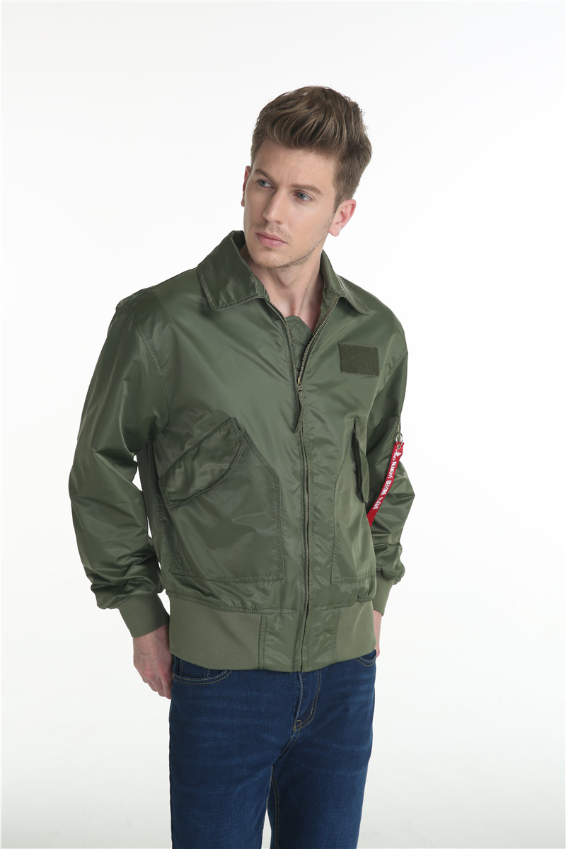 Topdudes.com - Top Men's Classic Bomber Jacket Windbreaker Harajuku Style Outwear