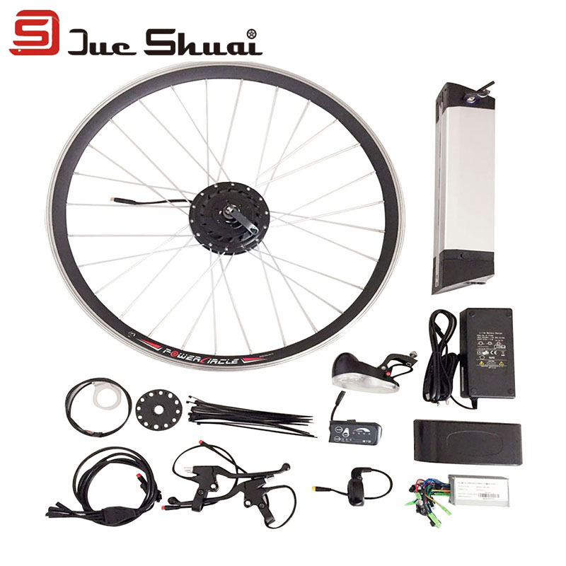 Electric Bicycle Motor Kit With Battery In India: 36V 250W Electric Bike Conversion Kit With Lithium Bottle