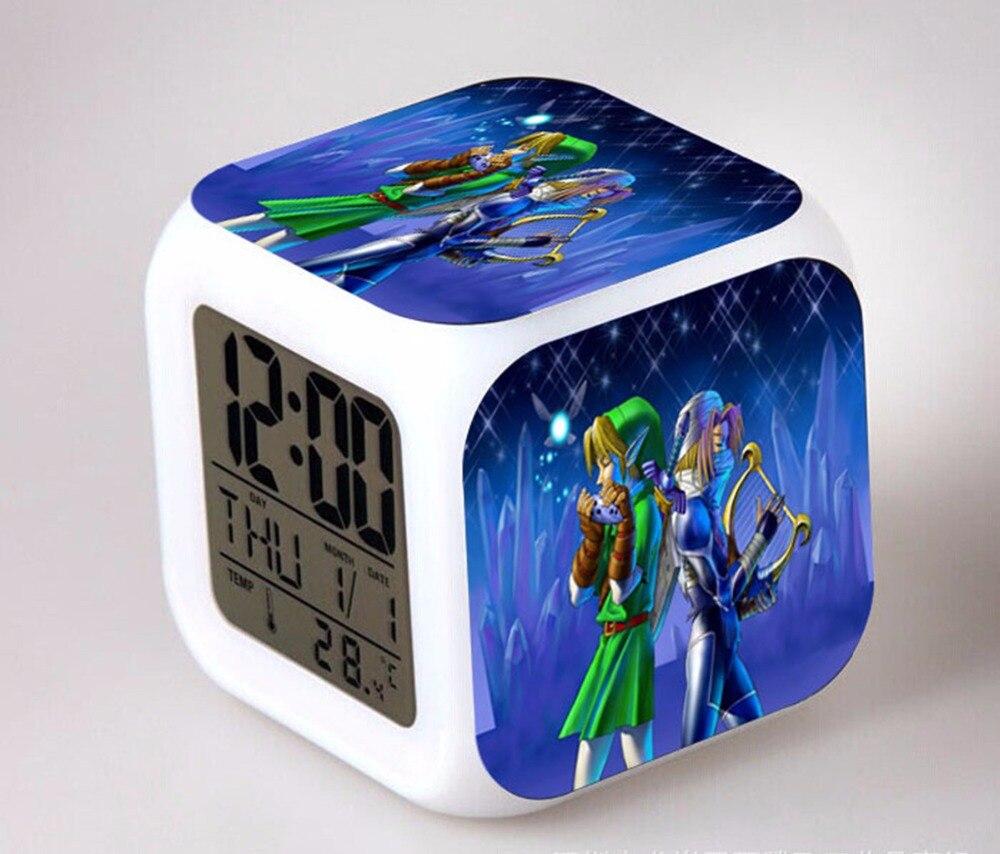 Back To Search Resultstoys & Hobbies Candid The Legend Of Zelda Digital Alarm Clock 3d Game Action Figure Toys 7 Color Led Nightlight Cube Desktop Clock For Kids Gift