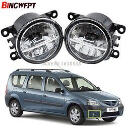 2 قطعة/المجموعة سيارة التصميم Led الضباب أضواء عالية السطوع الأبيض مصابيح ضباب 12V H11 ل داسيا لوغان MCV 2007-2009