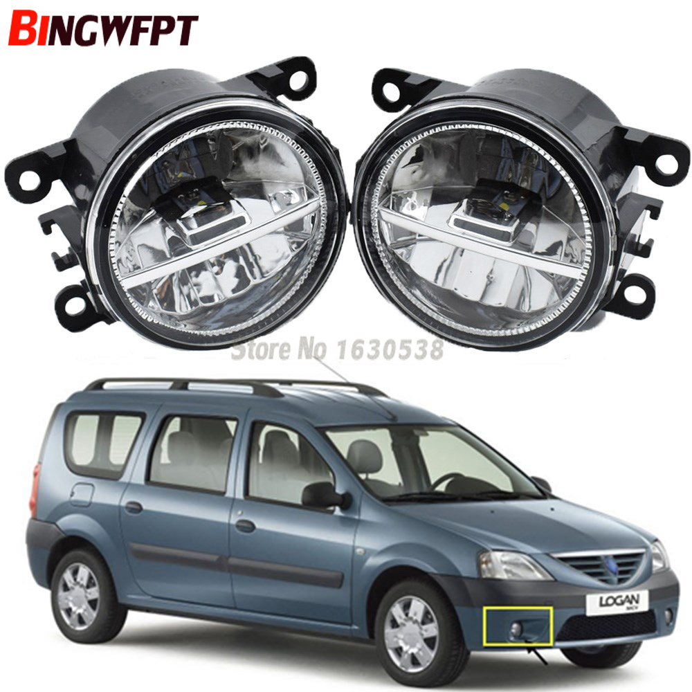 2pcs/Set Car Styling Led Fog Lights High Brightness White Fog Lamps 12V H11 For Dacia Logan MCV 2007-2009