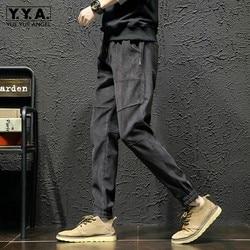 Autumn Winter Thick Warm Drawstring Harem Trousers Men Plus Size 5XL Loose Fit Hip Hop Pants Casual Cotton Pantalon Hombre Black