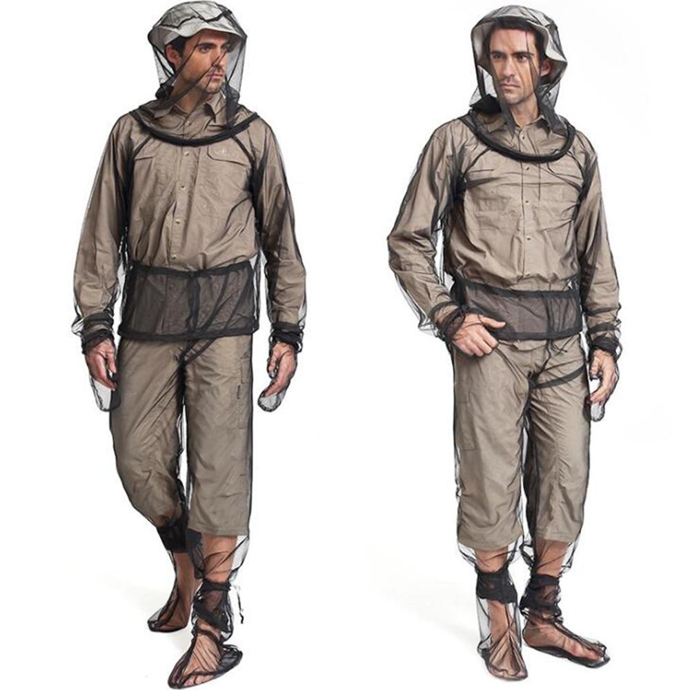2018 Anti-mosquito Fishing Clothing Summer Breathable Unisex Black Fishing Coat with cap Mesh A Set Clothing for Fishing Hiking