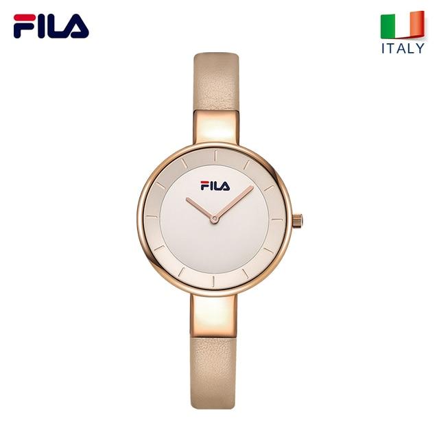 Fila Women Wrist Watch Quartz Watch for Women Lady Simple Leather Strap Water Re