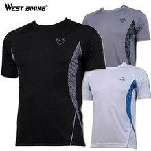 WEST BIKING, для велоспорта, для мужчин, для велосипеда, спортивный топ, для бега, для велоспорта, с коротким рукавом, майки, для мужчин, с o-образным вырезом, быстросохнущие футболки