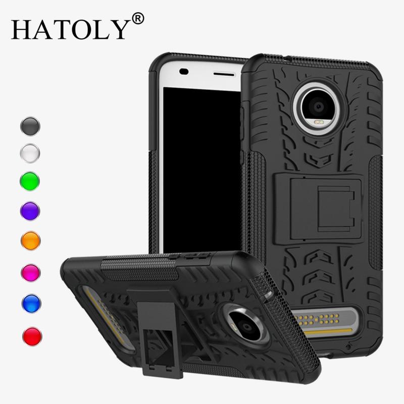 Για κάλυμμα Motorola Moto Z2 Play Case Anti-knock Heavy Duty Armor Cover Moto Z2 Play Silicone Phone Bumper Case For Moto Z2 Play