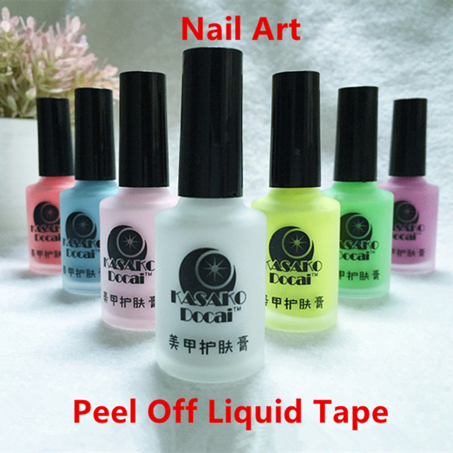15ml White Peel Off Liquid Nail Art Tape Latex Tape Palisade For ...