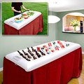 Free shipping Bigmouth Inflatable floating Buffet and Salad Serving Bar - White Drink Storage Holder Swimming Pool party boat