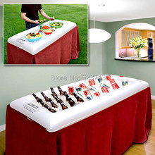 Free shipping Bigmouth Inflatable floating Buffet and Salad Serving Bar – White Drink Storage Holder Swimming Pool party boat
