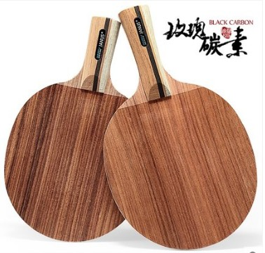 JANUS rose pure wood carbon fiber 7 layer profession Table Tennis Ping Pong Combo Paddle Racket  long short handle racket boer table tennis 1 star ping pong racket paddle
