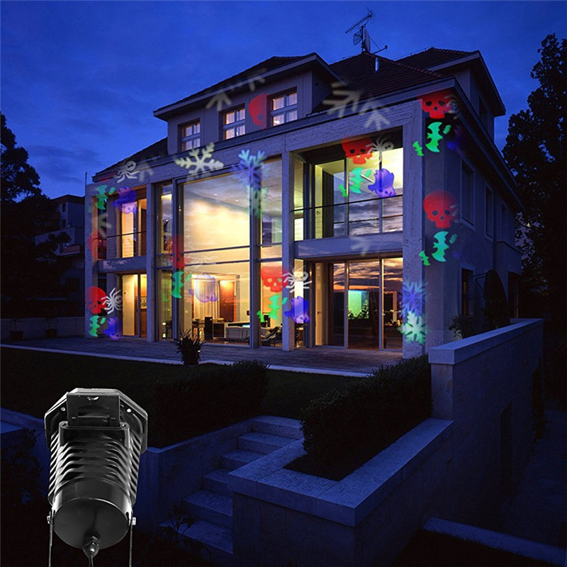 110v winter seasonal christmas led projector 10 patterns rotating projection light landscape led spotlights for holiday us plug in outdoor landscape - Christmas Led Projector