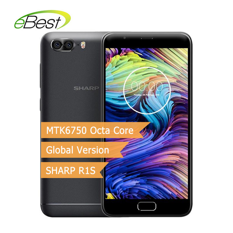 SHARP R1S FS8028 Smartphone Global Version 5.5Inch HD IPS 2.5D Curved MTK6750 Octa Core 3GB 32GB 5000mAh 4G LTE Android Celphone