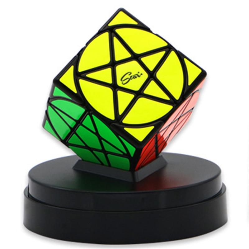 QIYI MOFANGGE Pentacle Cube Étrange Forme Magic Cube Puzzle Cube Enfants Jouets Noir/Blanc PVC Autocollant Tordu Cube