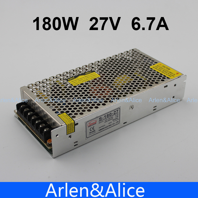 180W 27V 6.7A Single Output Switching power supply for LED Strip light AC to DC ac 85v 265v to 20 38v 600ma power supply driver adapter for led light lamp