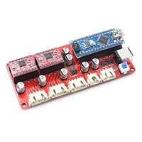 OXLasers 2 Axis Laser Engraving Machine Controller Board with Software DIY Laser Engraver Laser Cutter Part Stepper Moter Driver