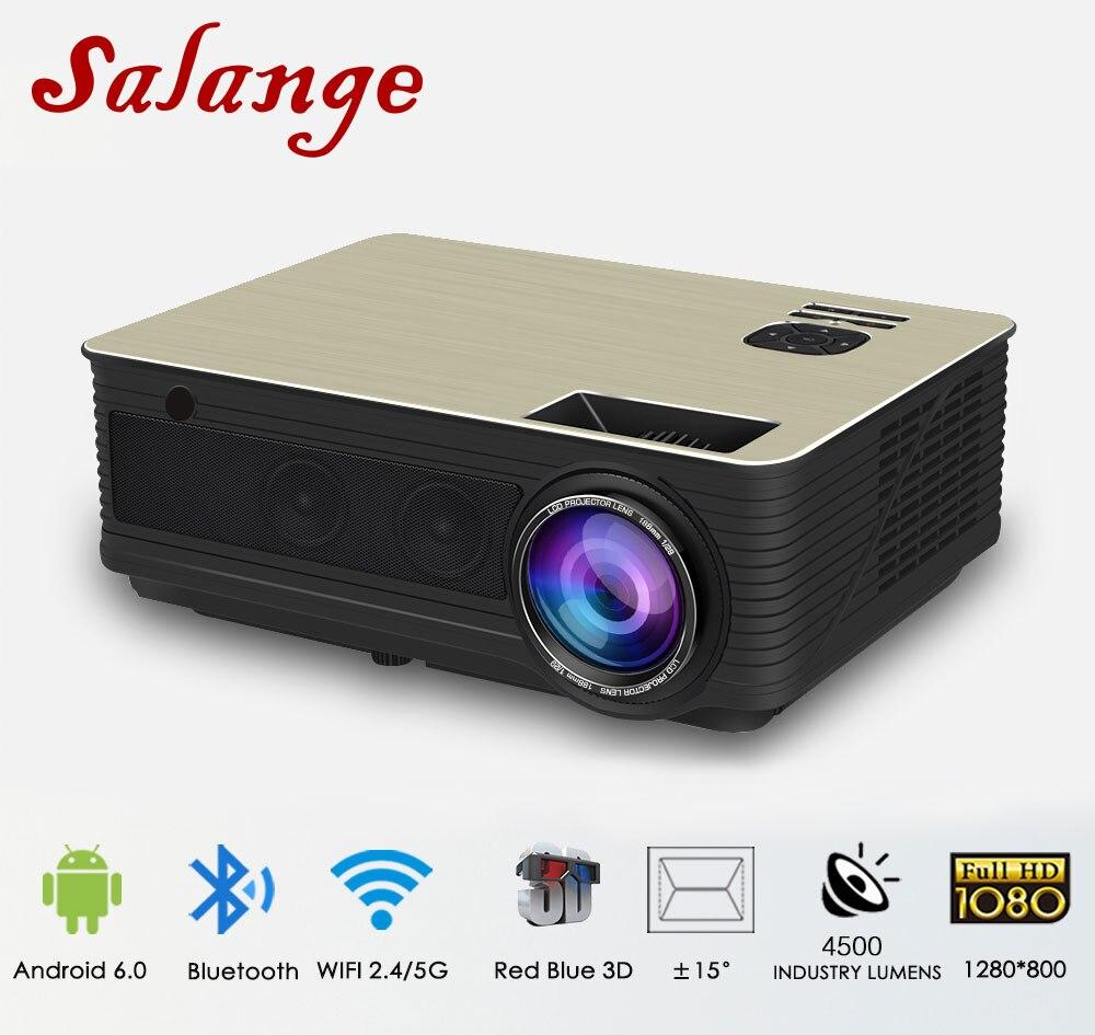 Salange M5 Projecteur LED 4500 Lumens Android 6.0 Bluetooth WiFi En Option Projecteur projecteur Vidéo TV Home Cinéma soutien 1080 p