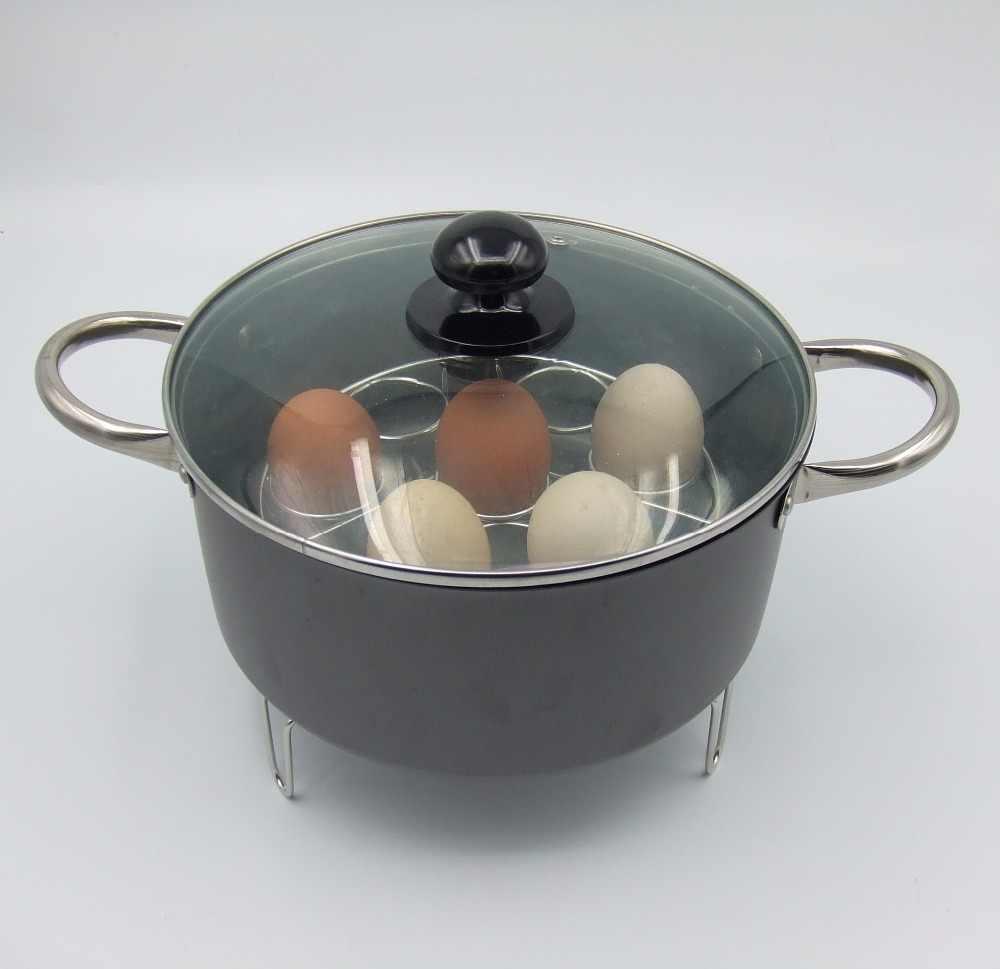 1 قطعة الفولاذ المقاوم للصدأ البيض باخرة رف 7 فتحات وعاء البخار البيض منفصلة المياه الرف تبخير حامل سلة ل طباخ موافق 0656