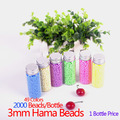 Set=4 Bottles 3mm 2000 Beads/Bottle Hama Beads Fuse DIY Educational Craft 49Colors EVA Material Solid Glass Bottle