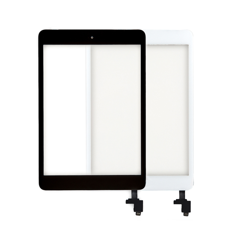 10pcs/lot Free DHL New Touch Screen Glass Panel Digitizer Includes IC Chip Home Button For IPad Mini & Mini 2 Black White