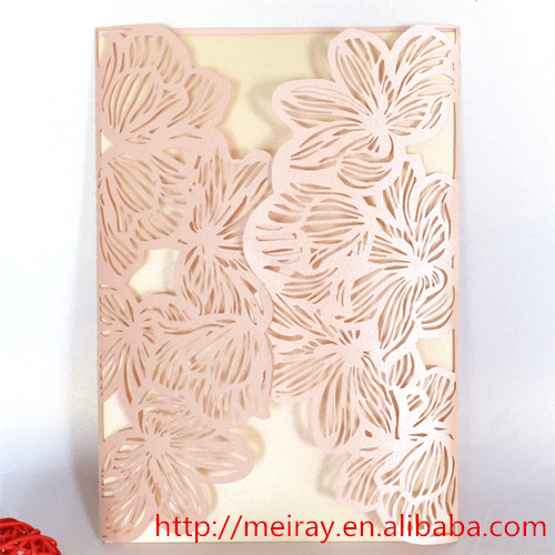Marvelous Latest Delicate Wedding Card ! Peach Wedding Decorations Laser Cut Peach  Wedding Invitations