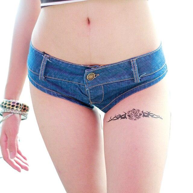 Short Taille Haute Hot Nightclub Sexy Girls Low Waist Denim Shorts Thong Summer Jean Shorts Mini Femme for Women Ladies 02220316
