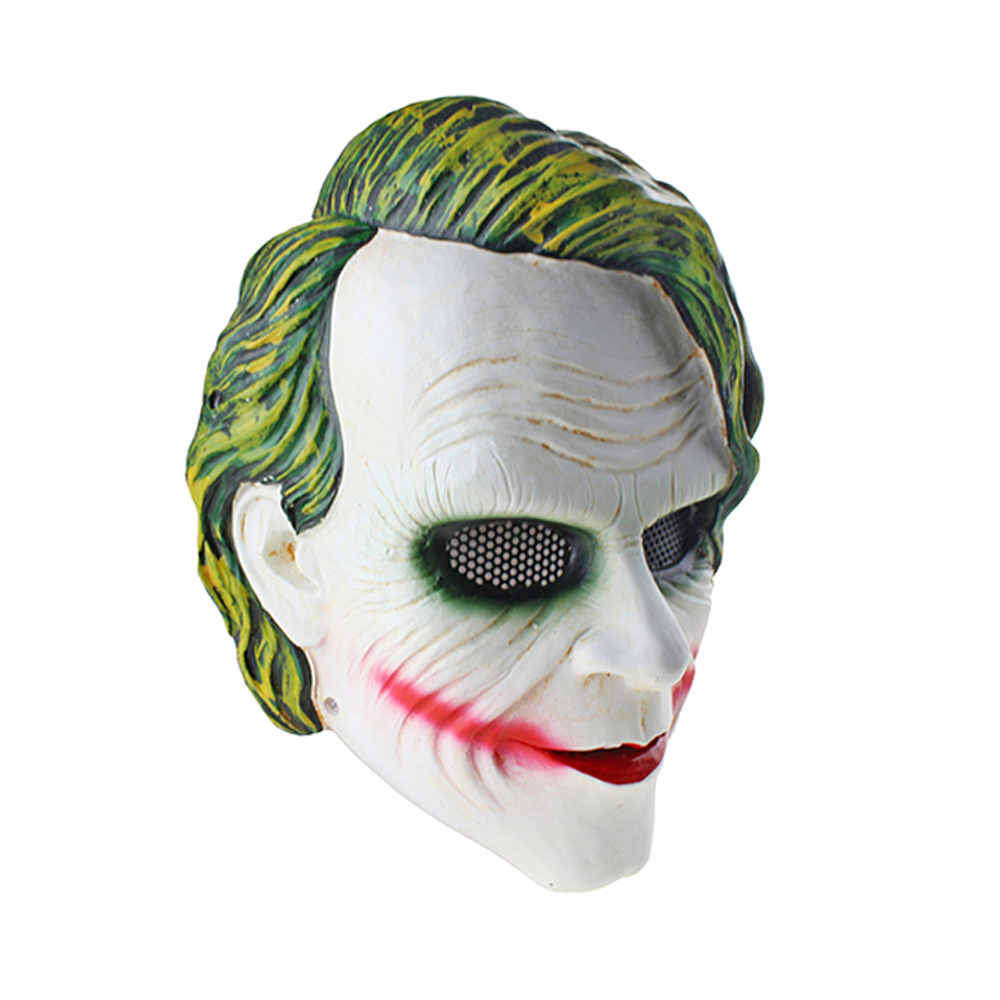 Glass Fiber Tactical Full Face Joker Clown Mask Military Airsoft CS ...