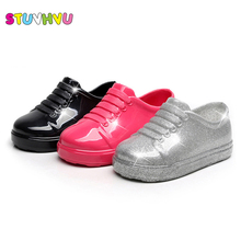 Fashion brand boys sport shoes girls casual jelly shoes for kids pvc comfort sandals waterproof children sports shoes size 21-29