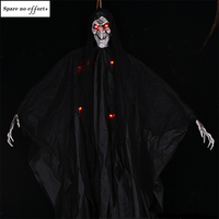 2M Big Devil Horror Halloween Hanging Ghosts Skull Skeleton Halloween Decorations Haunted House Bar Club Halloween Scary Ghosts