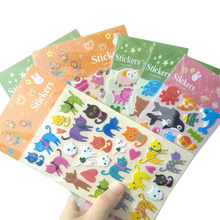 1pack/lot Cute Cartoon Stickers Puffy Bubble Fruits Animals PVC Sticker 3D Whales Cat Scrapbooking Sticker Decoration Labels(China)