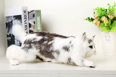 simulation cute cat 42x14x13cm model polyethylene&furs cat model home decoration props ,model gift d499 large 21x27 cm simulation sleeping cat model toy lifelike prone cat model home decoration gift t173