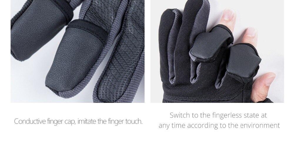 Reiten Touchscreen Outdoor-Bergsteigen Flip Wasserdicht Multifunktions-Handschuhe Winddicht Ski PGYTECH Fotografie-Handschuhe