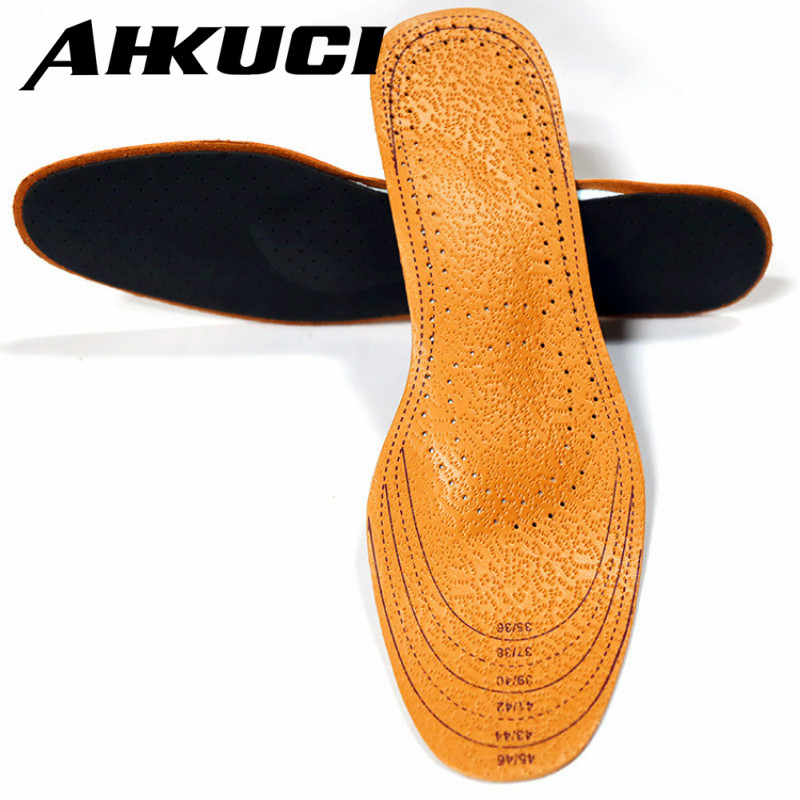5 Pairs Leather Arch Support Full Cushion Activated Carbon Sweat Shock Absorbent Insoles Orthotic Care EVA Shoes Pad expfoot orthotic arch support shoe pad orthopedic insoles pu insoles for shoes breathable foot pads massage sport insole 045