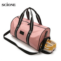 Travel Sports Bags Yoga Gym Bag for Fitness Shoes Handbags Women Men Gymtas Training Sac De Sport Outdoor Shoulder Pink XA673WA