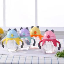 300ml baby water bottle Cartoon Cat Handled Silicone Sippy Cup Baby Training Drinking Water Bottle baby water bottle with Straw stylish 300ml cartoon shaun the sheep shape silicone cup set glass water cup