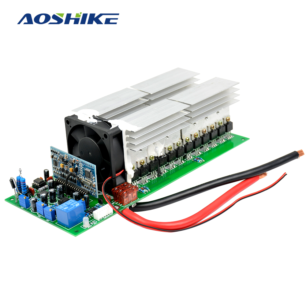 Aoshike 3000W Pure Sine Wave Power Frequency Inverter Board 24V 36V 48V 4000W 5000W High Quality Enough Power Perfect Protection цена и фото