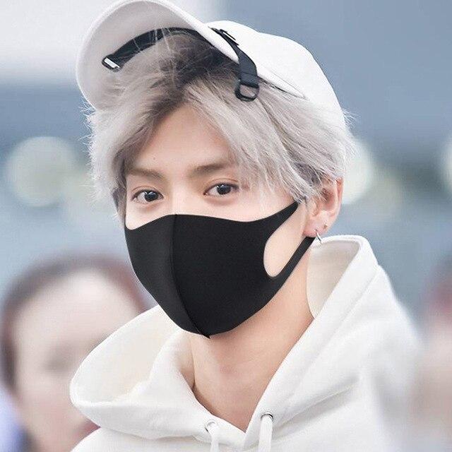 Mask Summer Thin Star Style Ice Silk Washing kpop nv Fashion Dust Anti-Fog Haze Print Riding Sun Mask 2