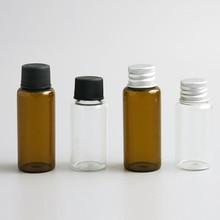 Promotion 500x20 ml 25ml échantillon liquide bouteilles en verre flacons bouchon à vis capacité 2/3oz échantillon bouteille en verre