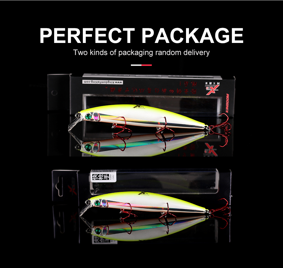 Kingdom Fishing lures 10g90mm 23.5g128mm Floating Minnow and Pencil Switchable Lilps artificial baits for sea bass wobblers 5358 (10)