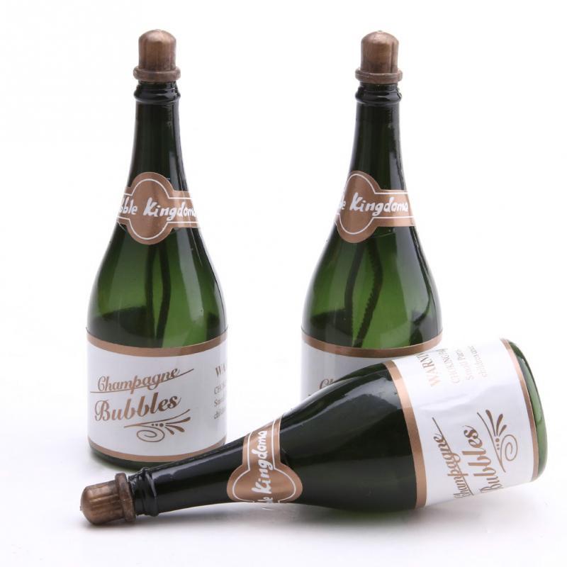 unids diy boda de auto riego burbuja vaca botella de champn de estilo botella de