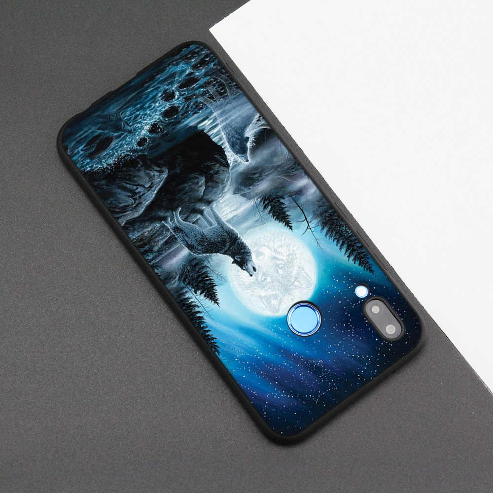 Funda de silicona para Huawei P20 P10 P9 P8 Lite Pro 2017 P Smart + 2019 Nova 3i 3E fundas de teléfono Dragón, Lobo animales